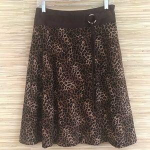 Leopard A-line Skirt